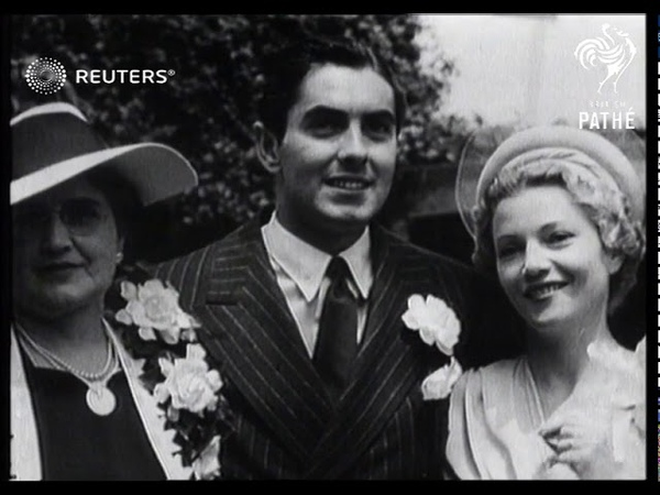 Annabella and Tyrone Power marry (1939)