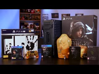 Распаковка PS4 Pro Death Stranding Limited Edition + Collectors Edition
