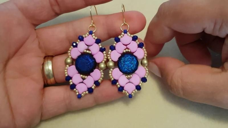 Tutorial Orecchini Annalisa con le Coin Ginko e cipollotti DIY earrings tutorial