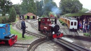 Longleat Safari Park Railway Jungle Express Narrow Gauge Steam Diesel Trains, August 2011