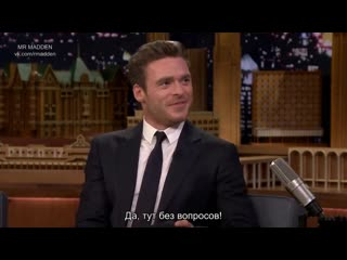 Richard madden teaches jimmy scottish slang and reflects on game of thrones (русские субтитры)