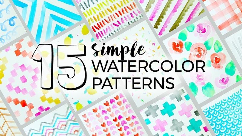 15 Simple Watercolor Patterns to Paint Sea Lemon