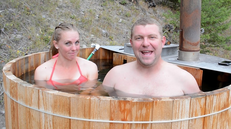 TIMELAPSE WOOD FIRED HOT TUB Built By Couple In 13 Min
