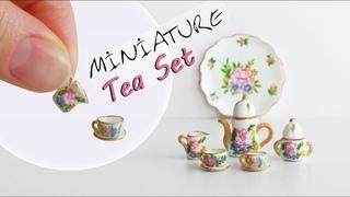 Miniature Tea Set - Polymer Clay Tutorial // Dollhouse DIY