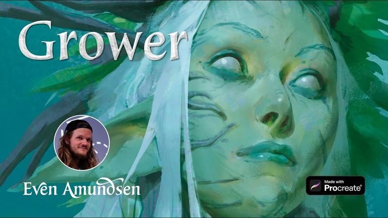 Digital Speed Paint: Grower | TEGN | Fantasy Art for Procreate
