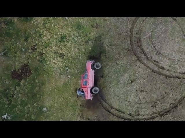 TOYOTA FAIL 4x4 (Car crash from drone ) Тойота в Карпатах жесть