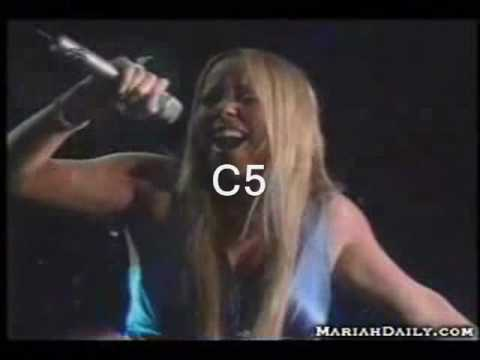 HD Mariah Carey's 5 Octave Vocal Range Live Note By Note