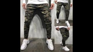 Мужские камуфляжные джинсы, армейские джинсовые брюки, зауженные брюки карго с большими карманами, мужские брюки карандаш в