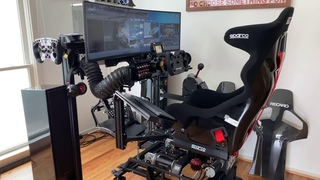 DOFReality H3: Sparco Circuit 2 mounted on H3 sim rig