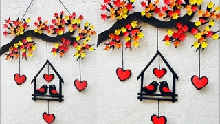 Diy Wall Hanging Craft Ideas | Wall decoration ideas | Love Birds Wall Hanging | Paper Crafts