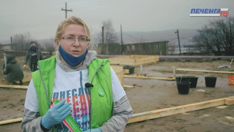 В Заполярном продолжается строительство площадки для выгула собак Печенга ТВ