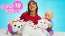 Vidéo de bébé born Emily en français pour enfants Comme maman épisode № 18 les petits chatons
