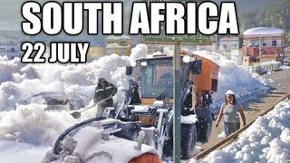 Incredible! It snowed in Africa today! People are shocked!