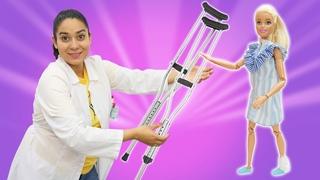 Puppen Video auf Deutsch. Barbie und Ken bei Doktor Aua. Spielspaß mit Puppen und Doktor Aua