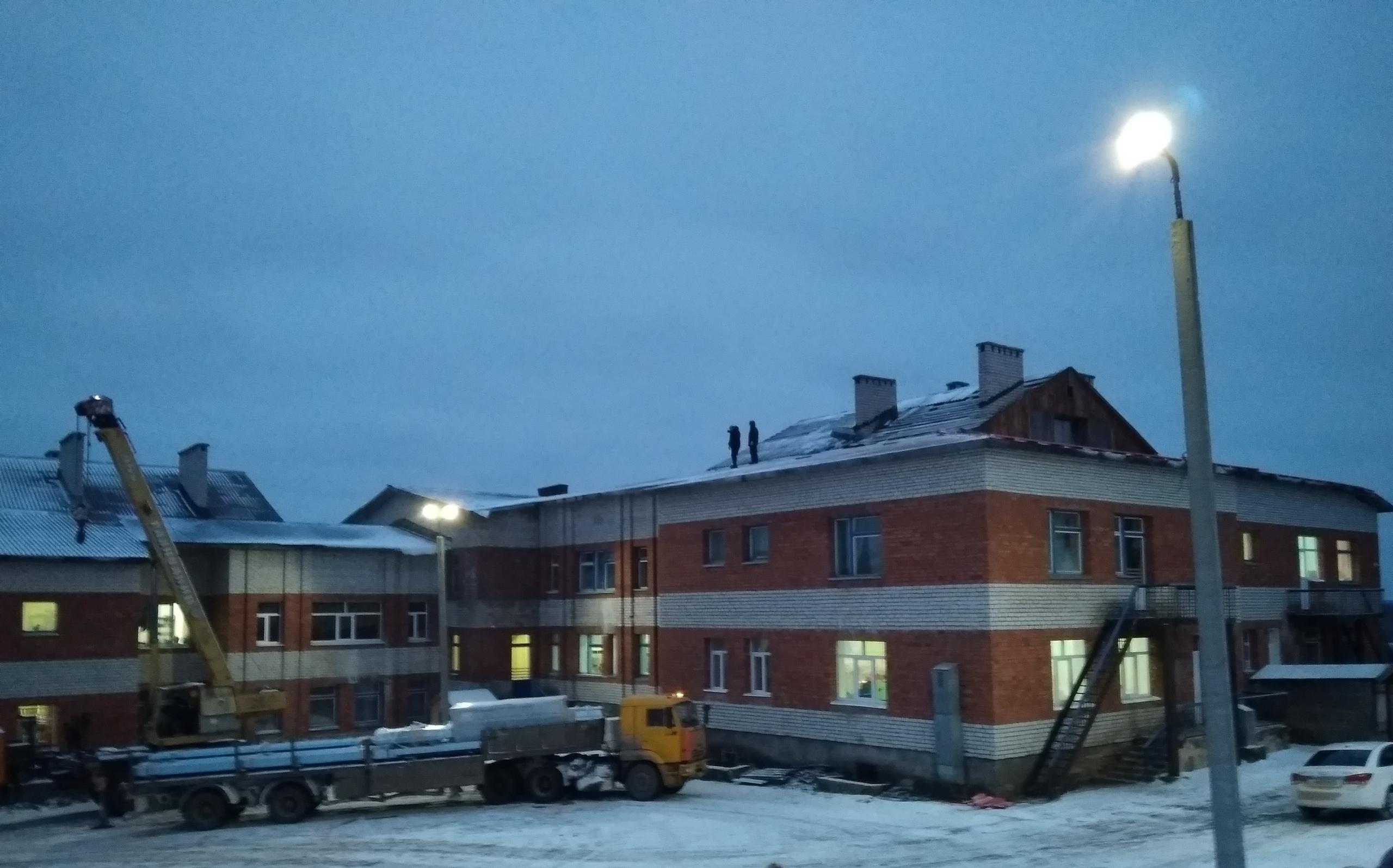 В Косланском детском саду начался ремонт крыши