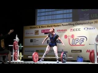 IPF 2014 Master World Championship Women M1 Dead Lifts