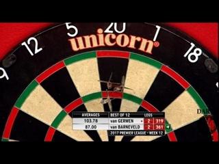 Michael van Gerwen vs Raymond van Barneveld (2017 Premier League Darts / Week 12)