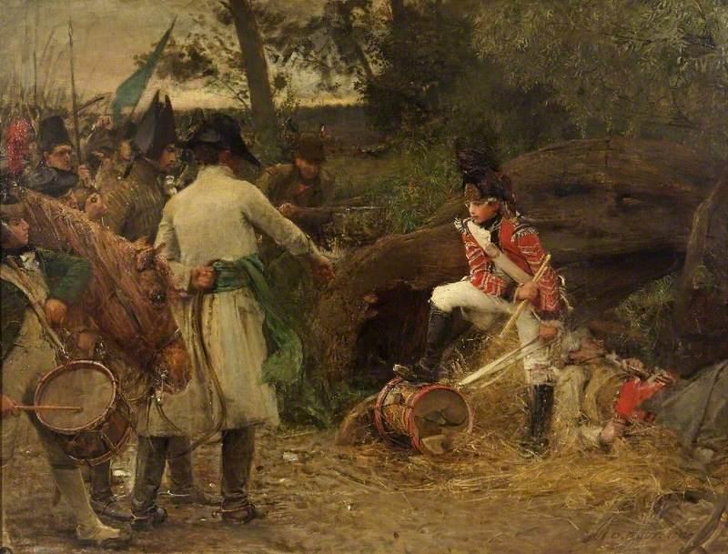 Джордж Уильям Джой «Королевский барабан не будет играть для мятежников» (тенденциозное изображение событий 1798 года)