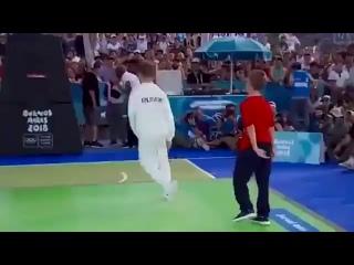 Первое в истории олимпийское золото в брейк-дансе у россиянина (6 sec)