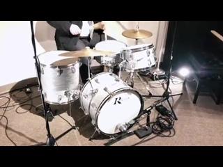 Steve Maxwell Vintage Drums - ROGERS STEEL GREY RIPPLE!