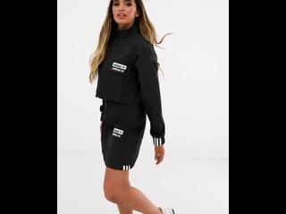 Черная укороченная куртка adidas Originals RYV