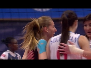 Волейбол ЛЧ  женщины 5-й тур Динамо Москва vs Вк Канн
