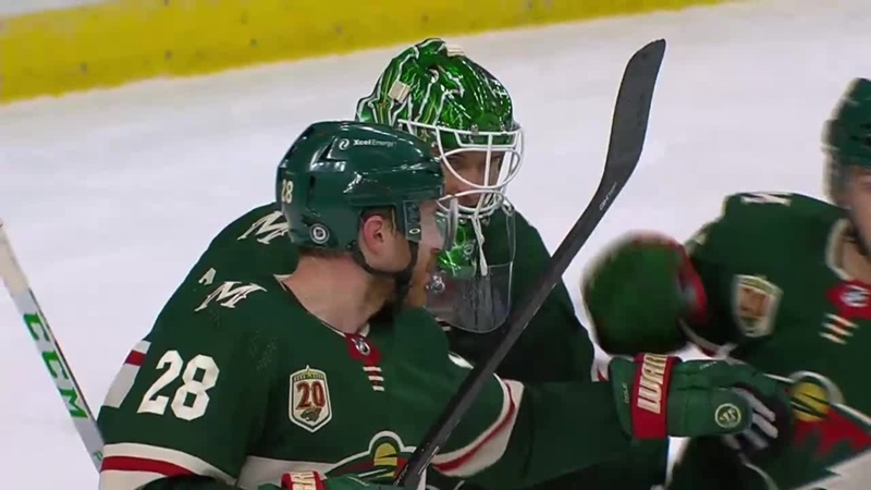 Kahkonen earns 1st NHL shutout Mar 8 2021