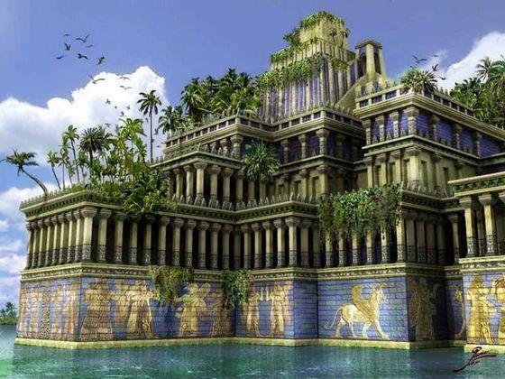Висячие сады Семирамиды Эти сады были построены ради прекрасной Аметис, жены царя Навуходоносора II, который привез ее в Вавилон. Удручающие пейзажи пустыни вызывали у девушки грусть, ведь она