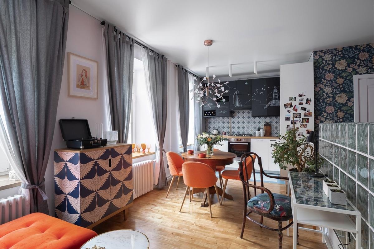 Интерьер квартиры-студии почти 32 кв.