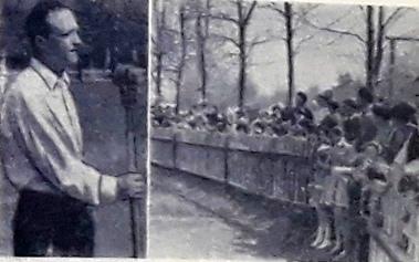 1966 г. Выступает секретарь парткома фабрики Д.П. Апыхтин. Справа: общий вид