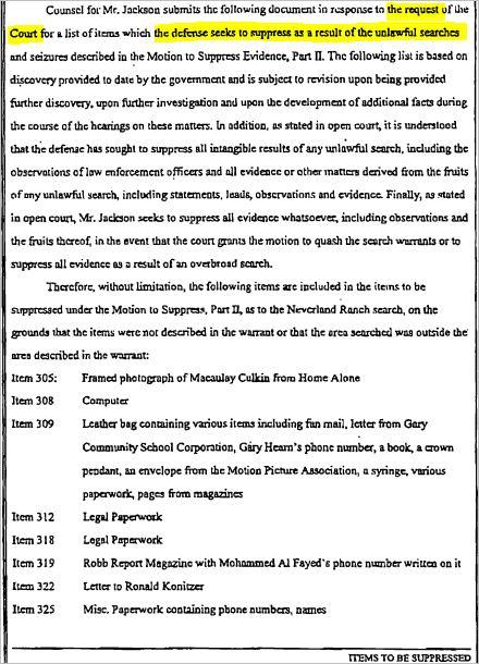 Секреты, раскрытые судебными документами во время поиска «жертв» Майкла Джексона., изображение №10