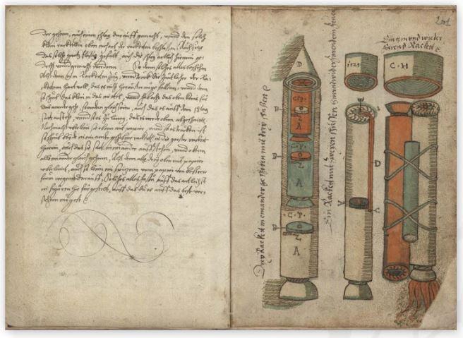 Ракеты XVI века: пилотируемые, многоступенчатые и с соплами, изображение №14