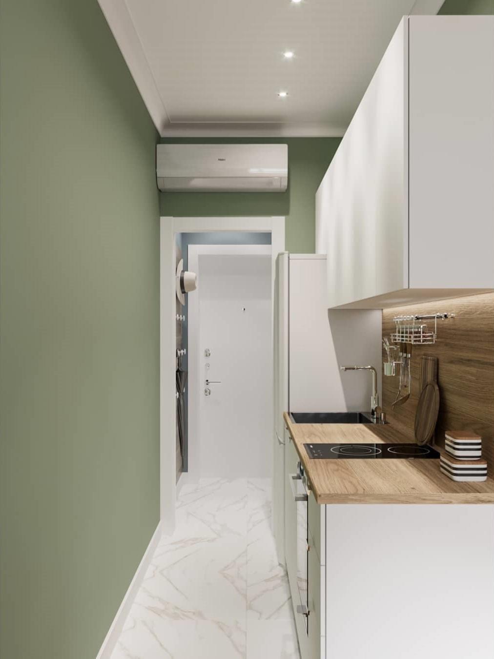 Проект компактной квартиры 25 кв.
