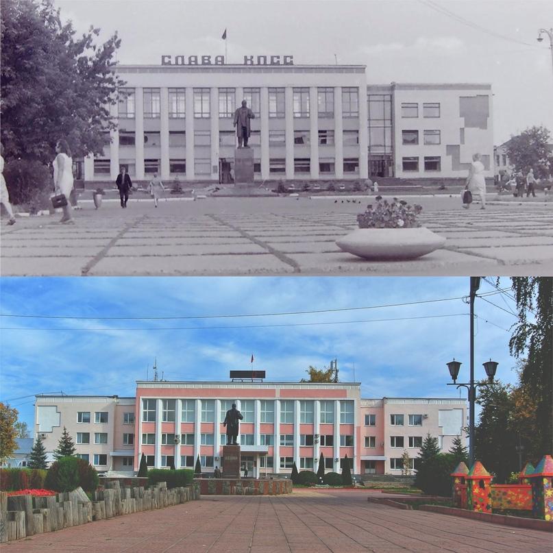 Площадь 1100-летия г. Мурома 1971 г. / 2020 г.