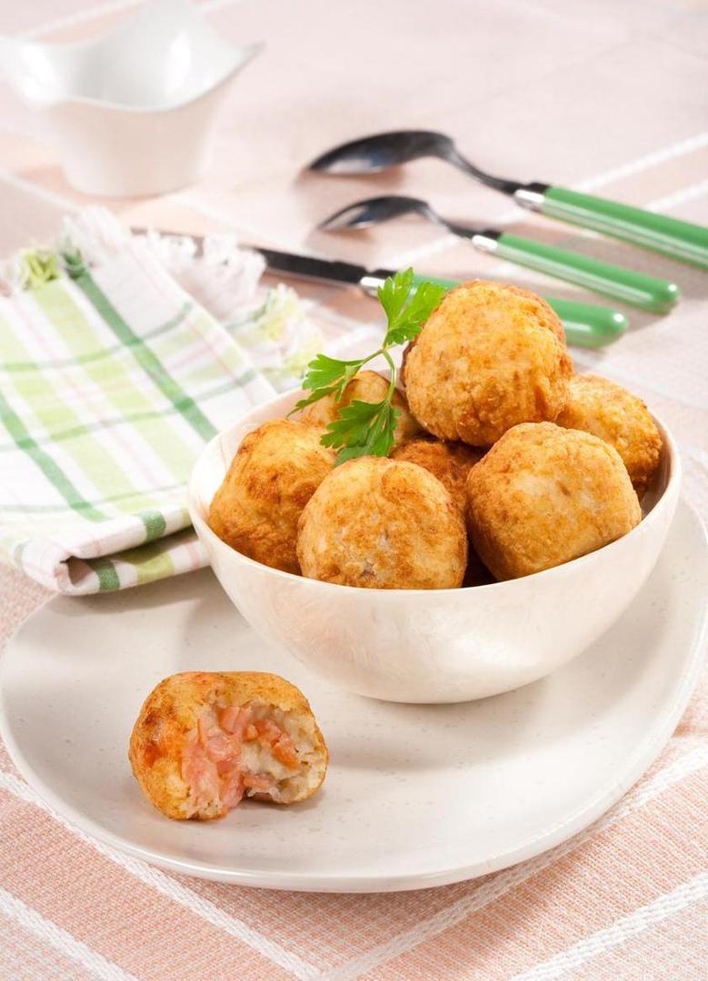 Рыбные шарики с картофелем