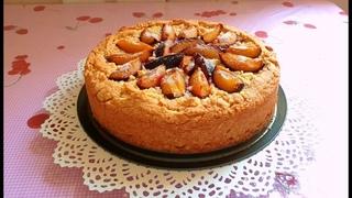Пирог яблочно сливовый на день рождения