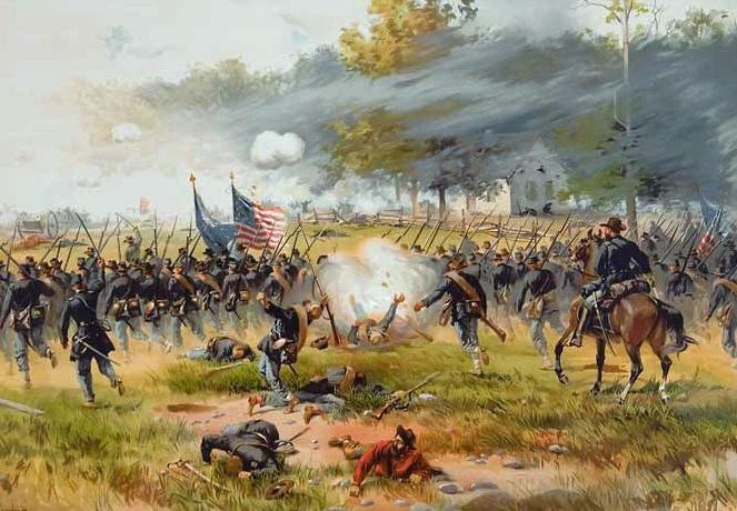 Атака Железной бригады в битве при Энтитеме.