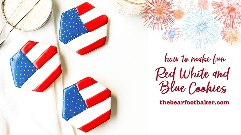 How to Make Fun Red White and Blue Cookies | The Bearfoot Baker copy