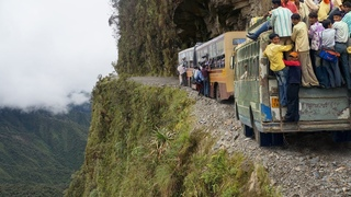 Amazing Crazy Bus VS Dangerous Roads - Bus Nearly Falls off Cliff, Crossing Extremely Muddy & Steep