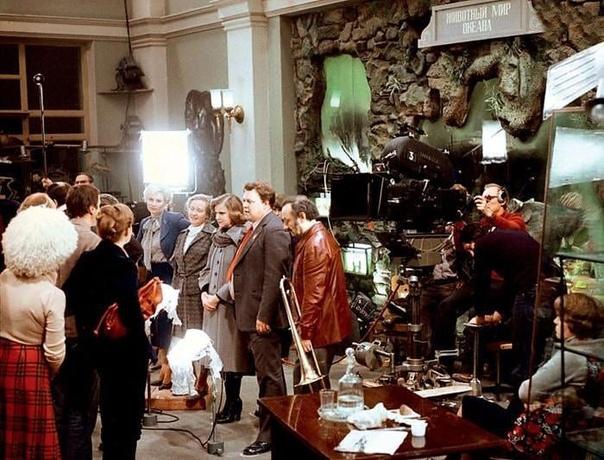На съемках фильма «Гараж», 1979 год, Ленинград  Какая ваша любимая цитата из этого фильма