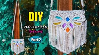 DIY Macrame Bag/Macrame Purse with Remove Strap | Design & Tutorial by LIT decor (Part 2)