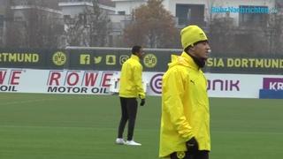 Das BVB-Abschlusstraining vor dem Spiel gegen Brügge