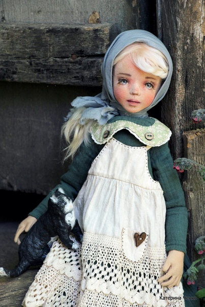 Текстильные куклы Екатерины Ченко