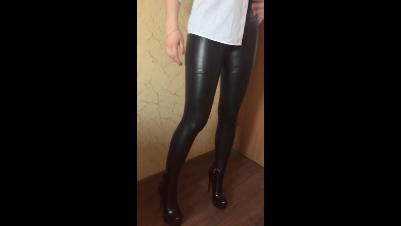 Leather Leggings High Heels kristina