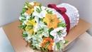 Торт Букет лилийкрем БЗК. /Cake Bouquet of liliesprotein custard.