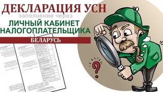 Заполнение декларации УСН без НДС через личный кабинет плательщика | Беларусь |Ваш бухгалтер Яцкевич
