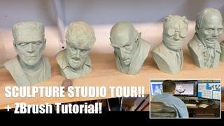Tony Cipriano Studio Tour +  NEW Zbrush Course Sneak Peek! #zbrush #tutorial