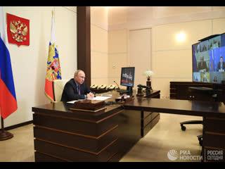 Путин на встрече с членами СПЧ