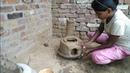 Mitti Ka chulha | village style mitti Ka chulha | clay stove |primitive technology making clay stove
