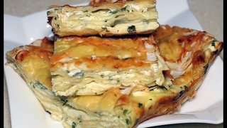Банальный лаваш, а какая вкуснятина. Простой и быстрый сырный пирог из лаваша.